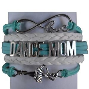 Dance Mom Bracelet - Turquoise & White